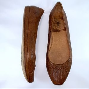 Frye Clementine Ruching Skimming leather flats